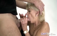 Blonde granny loves a big cock in her pussy