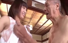Very old guy and Asian girl