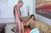 Young Latina fucked by older guy