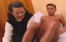 Old mom wants young cock