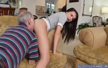 Teen Amy gets ass eaten by old perv