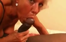 Old woman VS young black cock