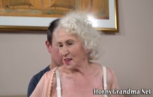 Grandmas old pussy eaten out