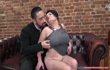 Busty old slut ravished by a stud