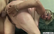 Old fatty fucked from behind