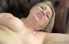 Busty old blonde fucked hard