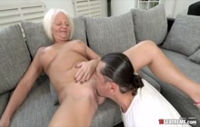 GILF with big tits enjoying hardcore sex