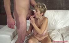 Granny with awesome skills enjoying big hard cock