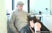 French girl rides old perv