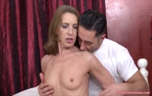 Redhead Grandma Expects a Facial After Hardcore Sex