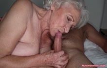 Granny with big boobs enjoying hardcore sex