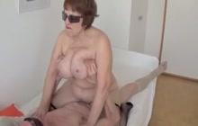 Young dude fucking a fat granny